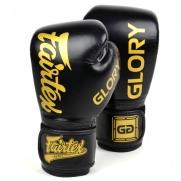 Fairtex X Glory bokso pirštinės, juodos