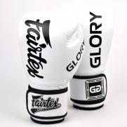 Fairtex X Glory bokso pirštinės, baltos